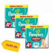Pampers Pants bugyipelenka, Maxi+ 4+, 9-15 kg, 2+1, 297 db