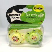 Tommee Tippee Közelebb a Természeteshez Fun játszócumi 0-6 hó 2 db (sárga, zöld)