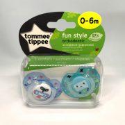 Tommee Tippee Közelebb a Természeteshez Fun játszócumi 0-6 hó 2 db (kék)