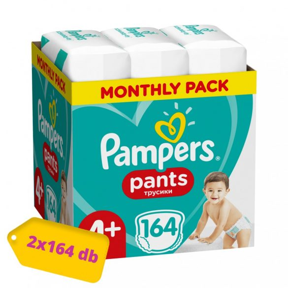 Pampers Pants bugyipelenka, Maxi+ 4+, 9-15 kg, 1+1, 328 db