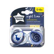 Tommee Tippee Közelebb a természeteshez Night játszócumi 0-6 hó 2 db (kék) - bálna, örvény