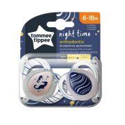 Tommee Tippee Közelebb a természeteshez Night játszócumi 6-18 hó 2 db (fehér, áttetsző) - csikóhal
