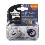 Tommee Tippee Közelebb a természeteshez Night játszócumi 6-18 hó 2 db (áttetsző) - csikóhal, bálna