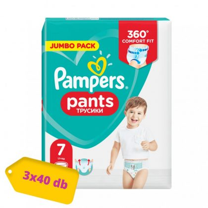 Pampers Pants bugyipelenka, XL 7, 17 kg+, 2+1, 120 db