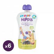 Hipp HiPPiS BIO gyümölcspép szilva-feketeribizli körtében, 6 hó+ (6x100 g)