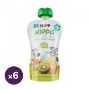 Hipp HiPPiS BIO gyümölcspép körte-banán-kiwi, 6 hó+ (6x100 g)