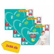 Pampers Pants bugyipelenka, XL 7, 17 kg+, 2+1, 240 db