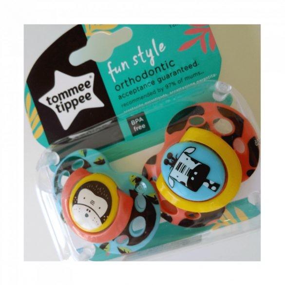 Tommee Tippee Közelebb a Természeteshez Fun játszócumi 18-36 hó 2 db (kék, narancssárga) - majom, zsiráf