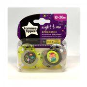 Tommee Tippee Közelebb a természeteshez Night játszócumi 18-36 hó 2 db (sárga, szürke) - csillag, bolygó