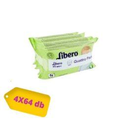 Libero törlőkendő 256 lapos (4x64) Wet Wipes