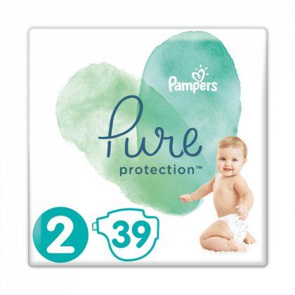Pampers Pure Protection pelenka, Mini 2, 4-8 kg, 39 db