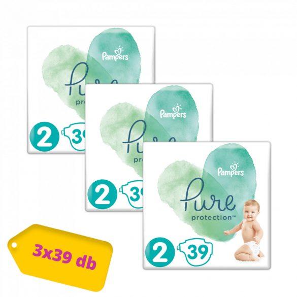 Pampers Pure Protection pelenka, Mini 2, 4-8 kg, HAVI PELENKACSOMAG 3x39 db