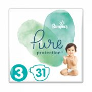 Pampers Pure Protection, Midi 3, 6-10 kg, 31 db-os