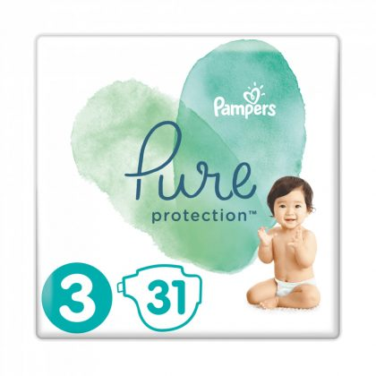 Pampers Pure Protection pelenka, Midi 3, 6-10 kg, 31 db