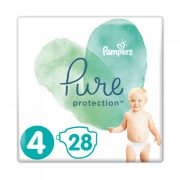Pampers Pure Protection pelenka, Maxi 4, 9-15 kg, 28 db