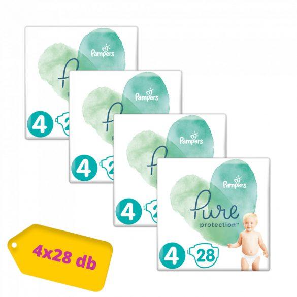 Pampers Pure Protection pelenka, Maxi 4, 9-15 kg, HAVI PELENKACSOMAG 4x28 db