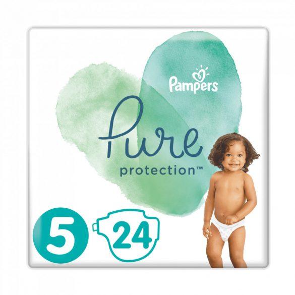 Pampers Pure Protection pelenka, Junior 5, 11 kg+, HAVI PELENKACSOMAG 4x24 db