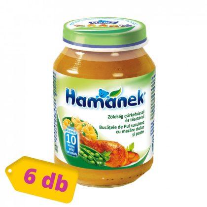 Hamánek bébiétel zöldség csirkehússal és tésztával, 10 hó+ (6x190 g)