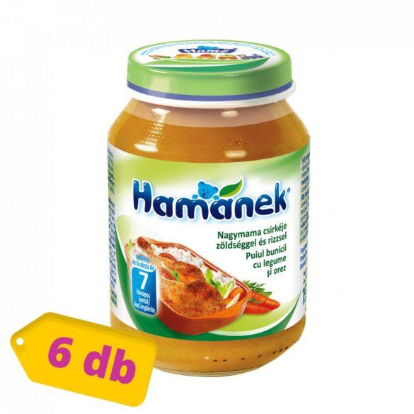 MEGSZŰNT - Hamánek bébiétel nagymama csirkéje zöldséggel és rizzsel, 7 hó+ (6x190 g)