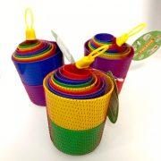 Poharas színes toronyépítő játék