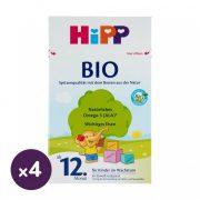 Hipp 4 BIO tejalapú junior gyermekital 12 hó+ (4x600 g)