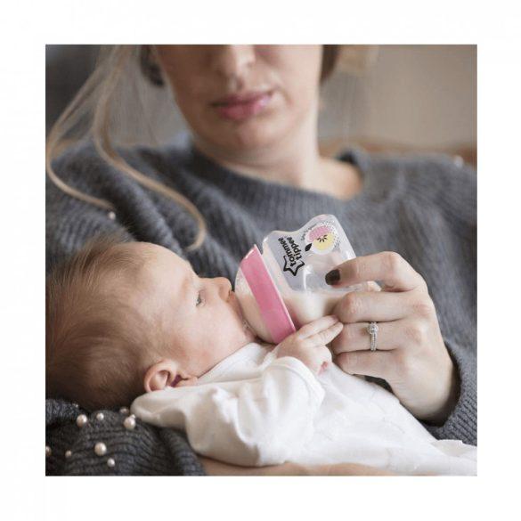 Tommee Tippee BPA-mentes újszülött cumisüveg kezdőszett 9 db (rózsaszín)