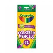 Crayola 12 db hosszú, hengeralakú színes ceruza
