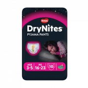 Huggies Drynites éjszakai pelenka, 3-5 éves korú lánynak, 16-23 kg, 10 db