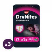 Huggies Drynites éjszakai pelenka 3-5 éves korú lánynak (16-23) kg, 3x10 db