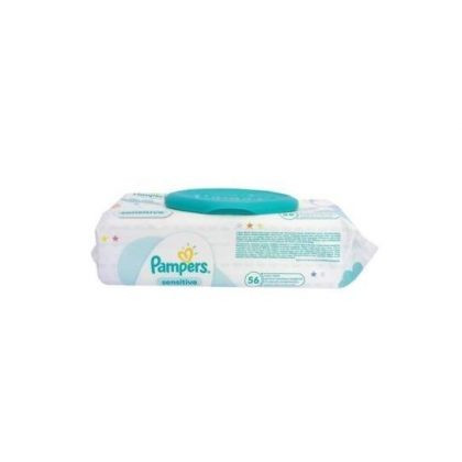 Pampers Sensitive kupakos törlőkendő 56 db