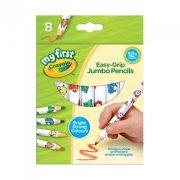 Crayola Mini Kids 8db vastag testű színes natúr, állatmintás ceruza