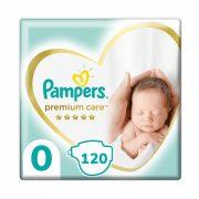 Pampers Premium Care pelenka, Koraszülött 0, 1-3 kg, 120 db