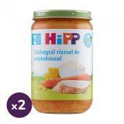 Hipp BIO zöldségtál rizzsel és pulykahússal, 12 hó+ (2x220 g)
