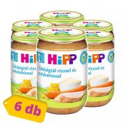 Hipp BIO zöldségtál rizzsel és pulykahússal, 12 hó+ (6x220 g)