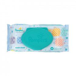 Pampers Fresh Clean törlőkendő kupakos, 64 lapos