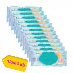 Pampers Fresh Clean kupakos törlőkendő 12x64 lapos
