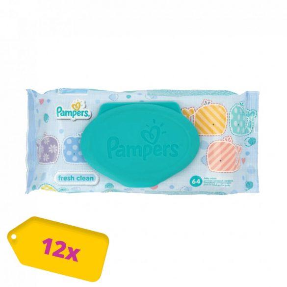 Pampers Fresh Clean kupakos nedves törlőkendő 12x64 db