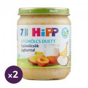 Hipp BIO joghurt gyümölcsökkel, 7 hó+ (2x160 g)