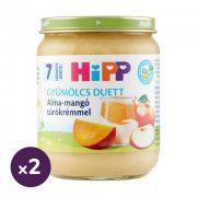 Hipp BIO alma-mangó túrókrémmel, 7 hó+ (2x160 g)