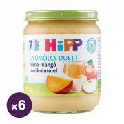Hipp BIO alma-mangó túrókrémmel, 7 hó+ (6x160 g)