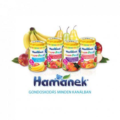 MEGSZŰNT - Hamánek bébidesszert alma-szilva, 4 hó+ (6x190 g)