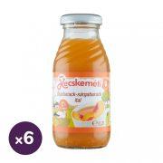 Kecskeméti őszibarack-sárgabarack gyümölcsital, 4 hó+ (6x200 ml)