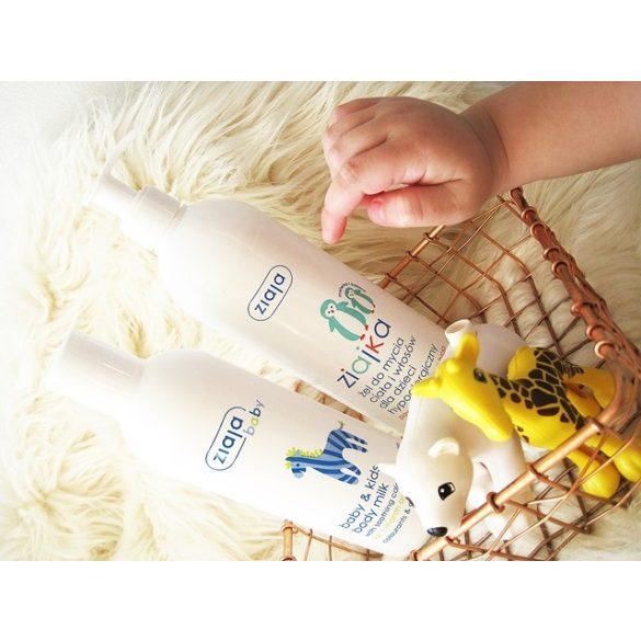 ZIAJA Baba & gyermek pumpás tusfürdő testre és hajra, 6 hónapos kortól 400 ml