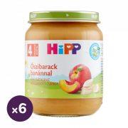 Hipp BIO őszibarack banánnal, 4 hó+ (6x125 g)