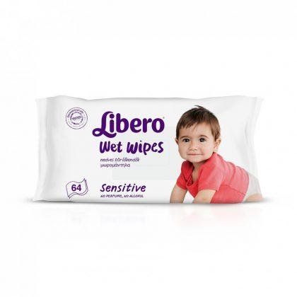 Libero Sensitive törlőkendő 64 lapos