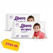 Libero Sensitive törlőkendő 2x64 lap
