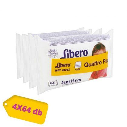 Libero Sensitive törlőkendő 256 lapos (4x64)