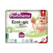 Pommette Ecologic 50%-ban lebomló öko pelenka, Maxi 4, 7-18 kg, 28 db