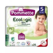 Pommette Ecologic 50%-ban lebomló öko pelenka, Junior 5, 11-25 kg, 25 db