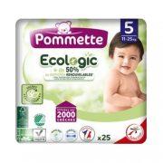 CSOMAGOLÁSSÉRÜLT - Pommette Ecologic 50%-ban lebomló öko pelenka, Junior 5, 11-25 kg, 25 db